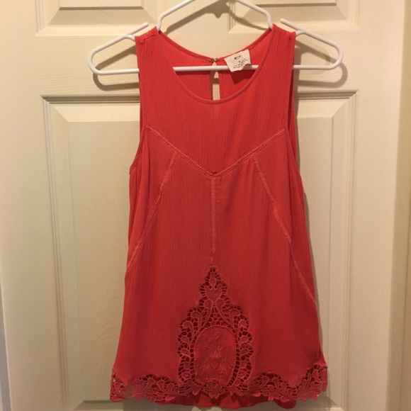 Pins & Needles Tops - Pins and Needles Pink Lace Tank Top, Size S